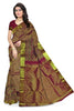 Kanchipuram Silk Saree - Purple & Gold - Floral Design