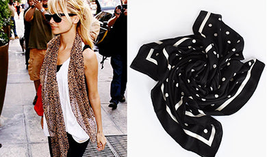 Four stylish ways to wear a scarf