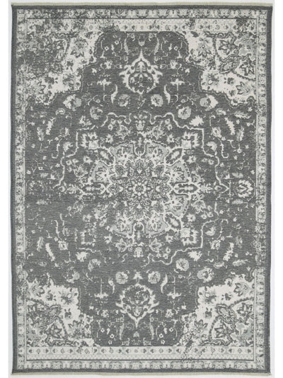Rustic Madallion Rug Grey - Alexa Nice
