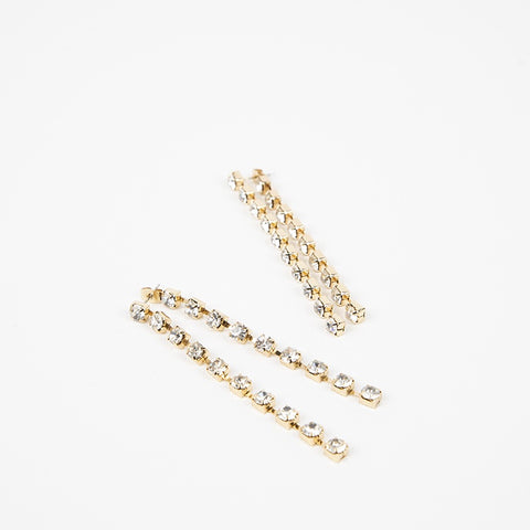 Clawed Diamante Chain Drop  Earrings