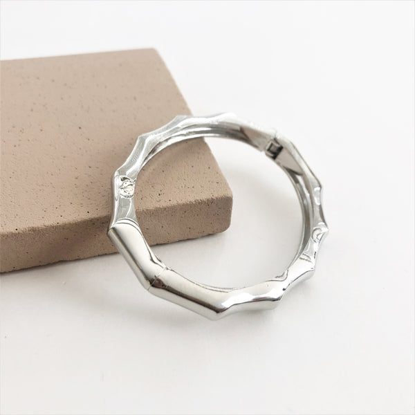 Kitty Bamboo Bangle Silver