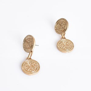 Double Ancient Disc Earrings - Alexa Nice