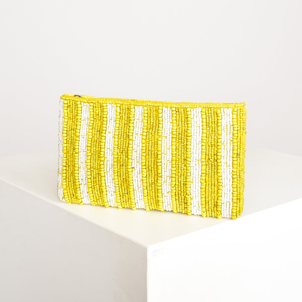 Noosa Beaded Pouch Yellow - Alexa Nice