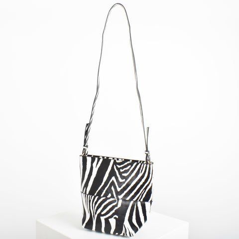 Zip Small Bucket Bag - Zebra - Alexa Nice