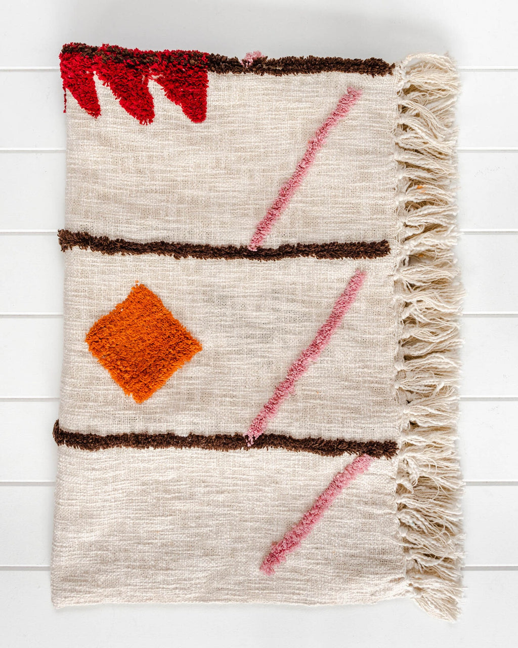 Throw Blanket - Bagru - Natural/Multi - Alexa Nice