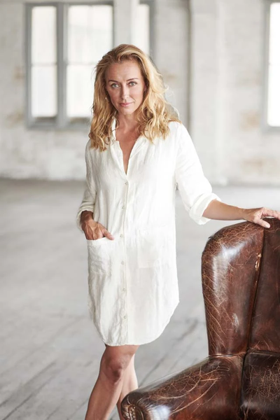 The Essential Linen Shirt - White - Alexa Nice
