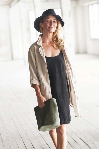 The Linen Slip - Black - Alexa Nice