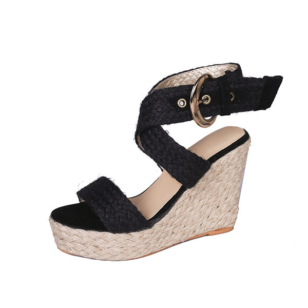 Morocco Wedge Black - Alexa Nice