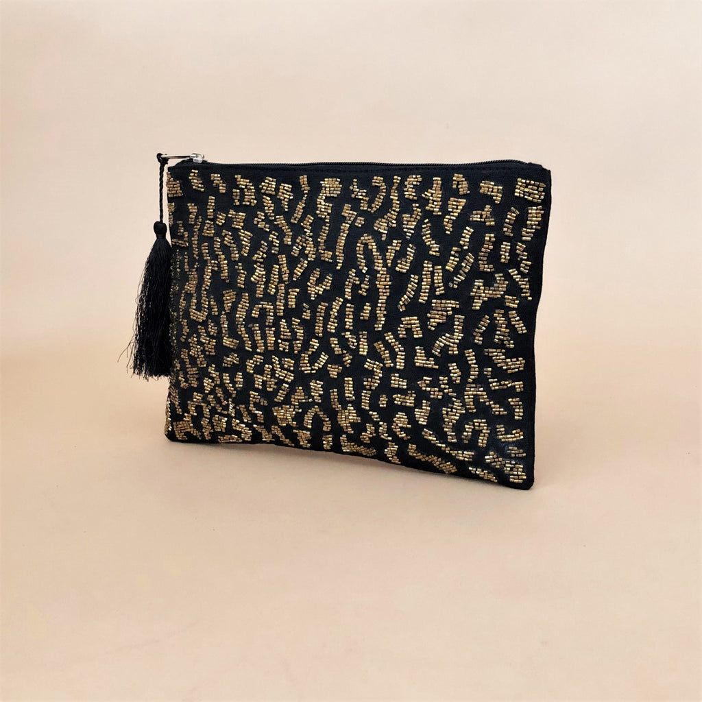 Kitty Leopard Clutch