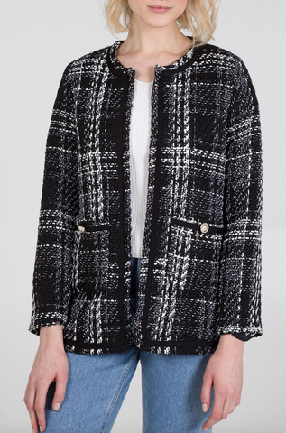 Cece Check Coat - Alexa Nice
