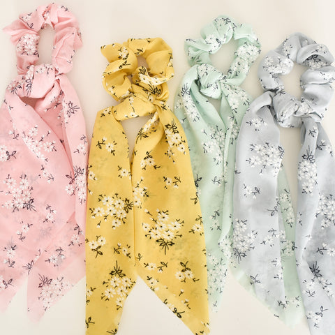 Set of 4 Pastel Floral Crunchies - Alexa Nice