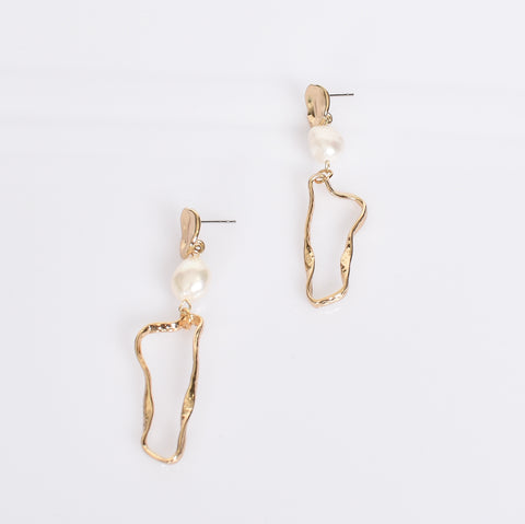 Pearl Geo Drop Earrings