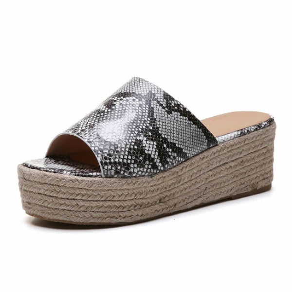 Mila Wedge Snakeskin