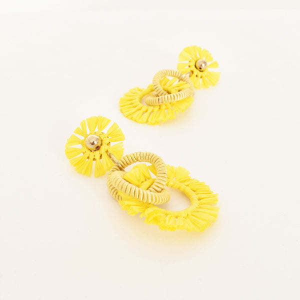 Lottie Raffia Earrings
