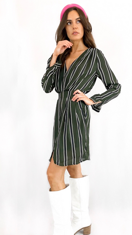 Lucia Dress Khaki - Alexa Nice