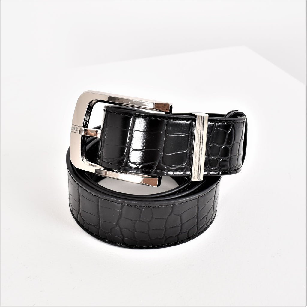 Chrissy Belt Black & Silver - Alexa Nice