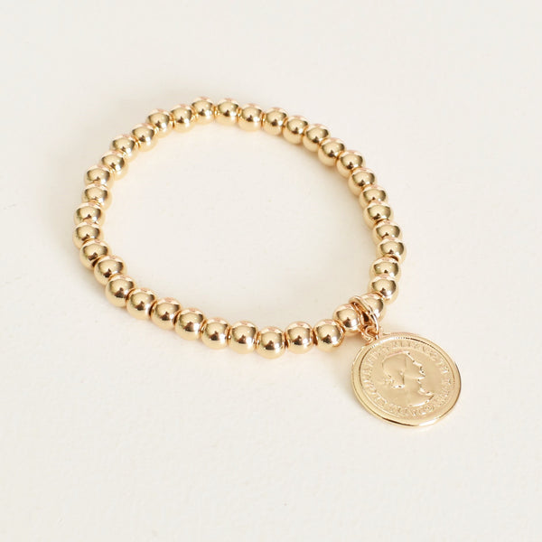 Small Coin Bracelet Gold - Alexa Nice