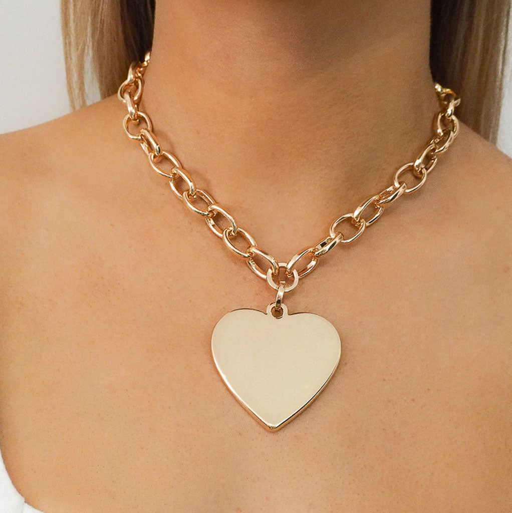 Elaine Heart Necklace - Alexa Nice