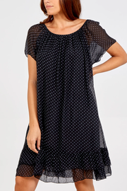 Off The Shoulder Spotted Silk Dress - Alexa Nice