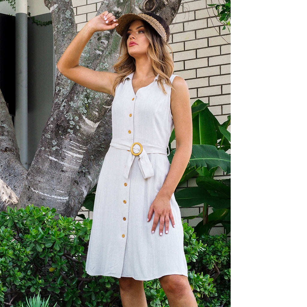 Safari Linen Dress