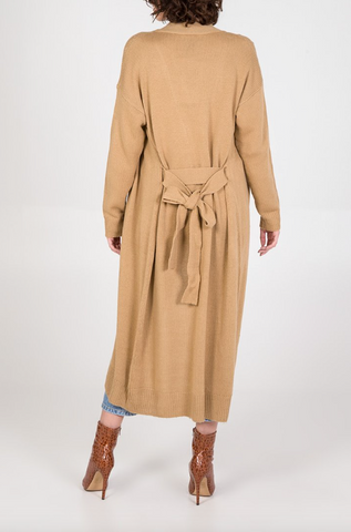 Chunky Belted Long Cardigan - Alexa Nice