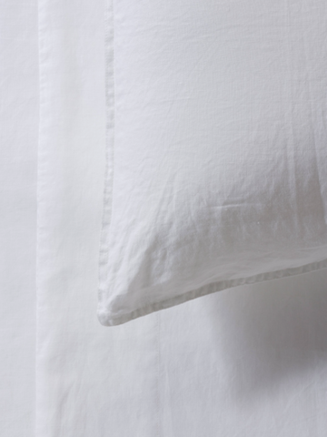 Mona 100% French Linen Duvet Set White - Alexa Nice