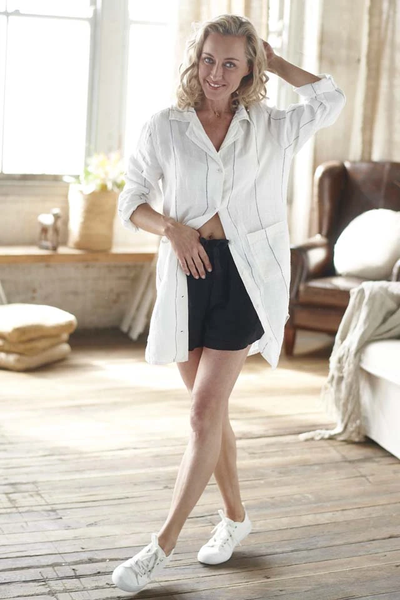 The Linen Shorts - Black - Alexa Nice