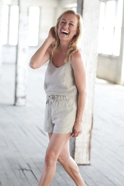 The Linen Shorts - Natural - Alexa Nice