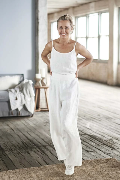 The Wide Leg Pant - White - Alexa Nice