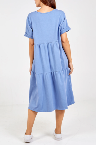 Tiered Midi Smock Dress - Alexa Nice