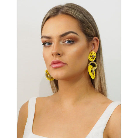 Lottie Raffia Earrings - Alexa Nice