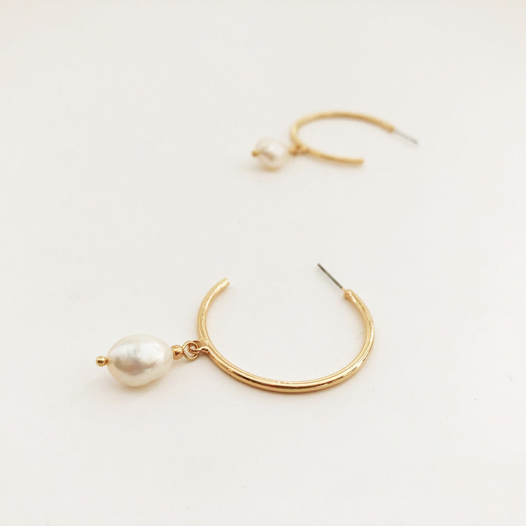 Anna Earrings Gold - Alexa Nice