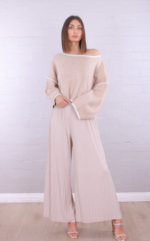 Pleated Long Pants - Alexa Nice