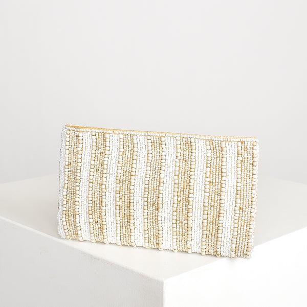 Noosa Beaded Pouch Natural - Alexa Nice