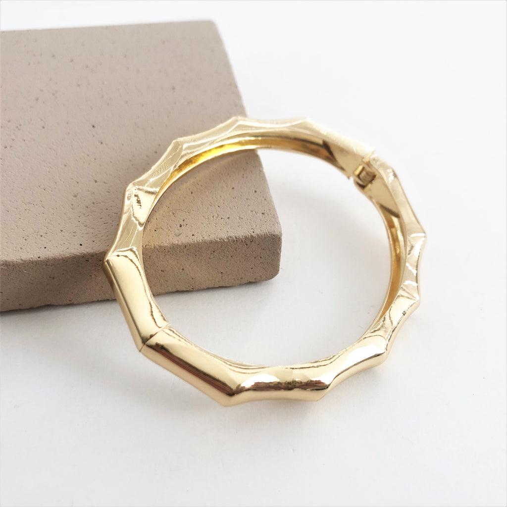 Kitty Bamboo Bangle Gold