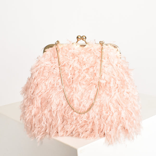 Fifi Feather Clutch - Alexa Nice