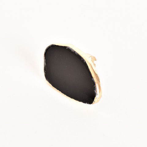 Scout Agate Ring Black - Alexa Nice