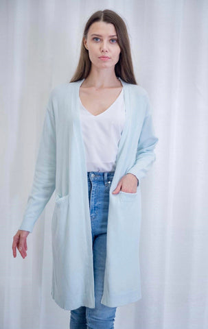 Relax Fit Cardigan - Light Blue - Alexa Nice