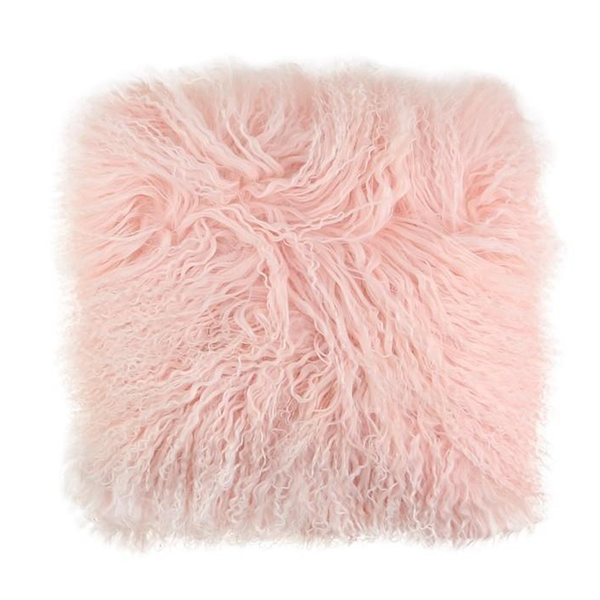 Fur Okal Lambswool Cushion Pink