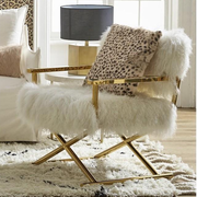Fur Okal Chair Ivory - Alexa Nice