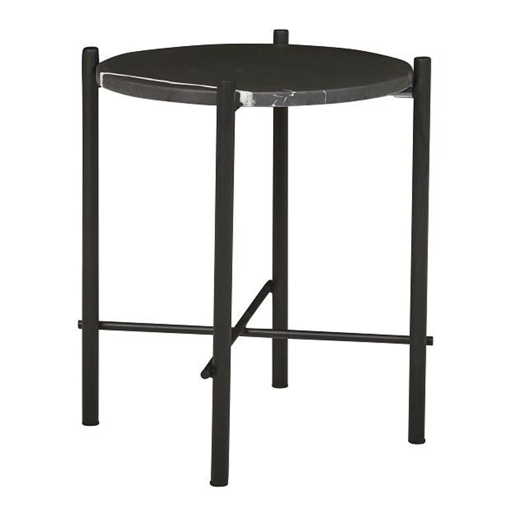 Elle Pipe Marble Side Table
