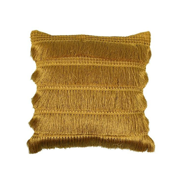 Penelope Fringed Cushion Gold