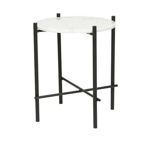 Elle Pipe Marble Side Table - Alexa Nice