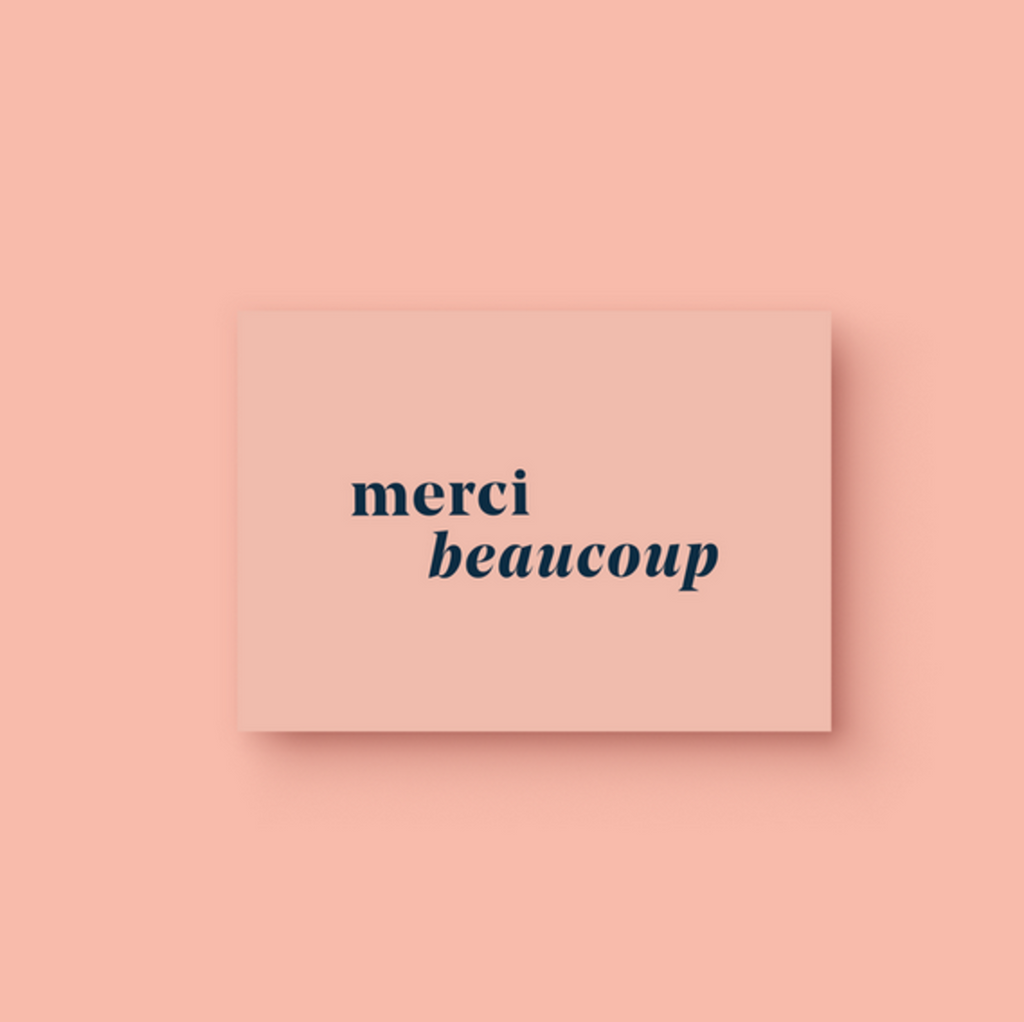 Merci Beaucoup Thank you Card - Alexa Nice