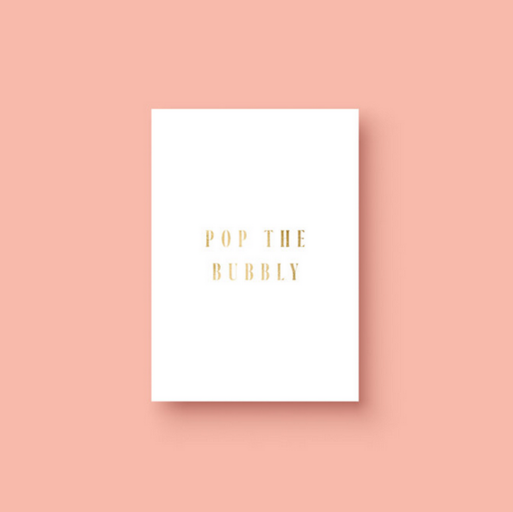 Pop The Bubbly Card - Alexa Nice