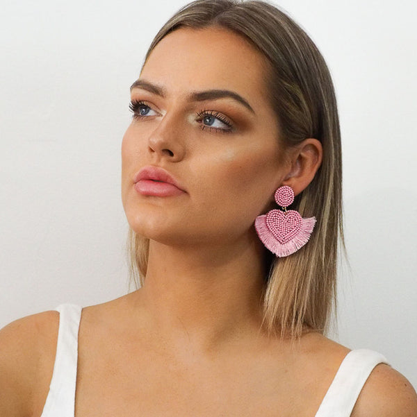 Bonnie Fringed Earrings - Alexa Nice