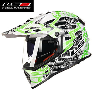 LS2 MX436 off road motorcycle helmet with sunshield ls2 pioneer Motocross helmet