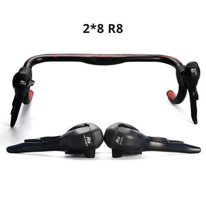 2/3X7/8/9 Speed Shifter Bicycle Dual Control Levers Road Bike Shift Lever Derailleur - Bike-Moto