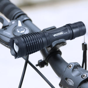 Bike Light  XML T6 LED Zoom Flashlight 2 in 1 Bicycle Torch  Cycling Light +18650 Charger +Bike Mount