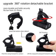 Load image into Gallery viewer, Bicycle Lamp 2x XM-L T6 LED Light USB Rechargeable Built-in Battery Headlight with Rear Light